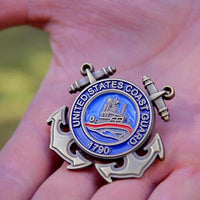 Load image into Gallery viewer, US Coast Guard Veteran Pin VIP