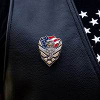 Load image into Gallery viewer, US Air Force Veteran Pin VIP