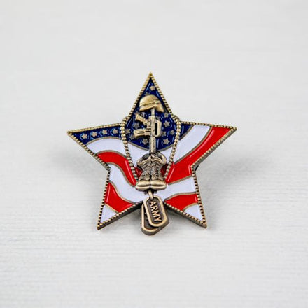 Load image into Gallery viewer, US Army Veteran Pin VIP