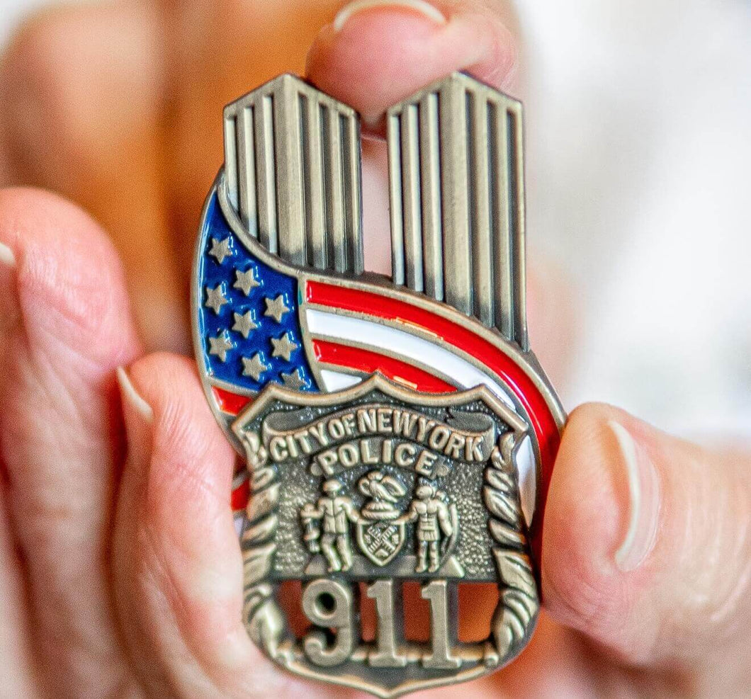 9/11 Police Officer Lapel Pin VIP