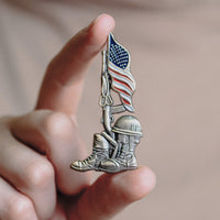 Load image into Gallery viewer, 75th D-Day Lapel Pin - Nothing Less Than Full Victory