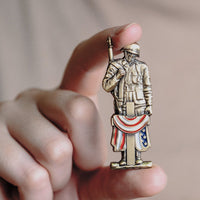 Load image into Gallery viewer, 75th D-Day Lapel Pin - Brothers 'til the End VIP