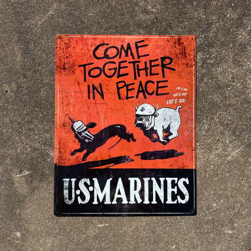 Come Together In Peace Vintage Metal Sign