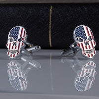 Load image into Gallery viewer, USA Skull Cufflinks VIP