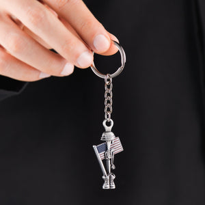 Fallen Soldier USA Memorial Keychain