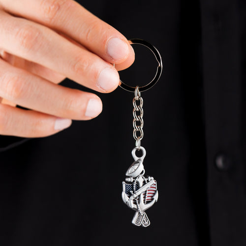 US Navy Veteran Keychain