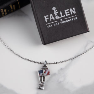 Fallen Soldier USA Memorial Necklace