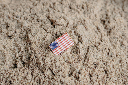 Load image into Gallery viewer, 75th D-Day Lapel Pin - American Flag VIP