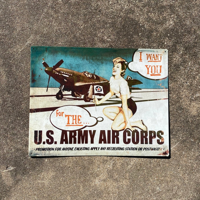 I Want You For the US Army Air Corps Vintage Metal Sign