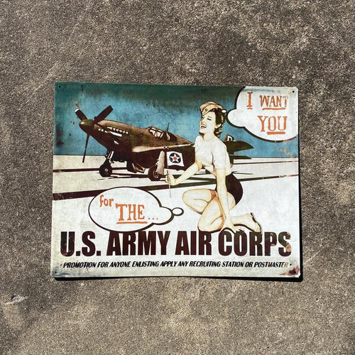 I Want You For the US Army Air Corps Vintage Metal Sign VIP