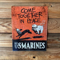 Load image into Gallery viewer, Come Together In Peace Vintage Metal Sign VIP