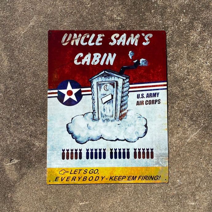 Uncle Sam's Cabin Vintage Metal Sign