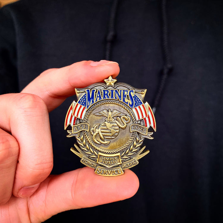 US Marines Veteran's Day Pin