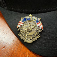 Load image into Gallery viewer, US Marines Veteran's Day Pin VIP