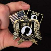 Load image into Gallery viewer, POW*MIA Memorial Pin