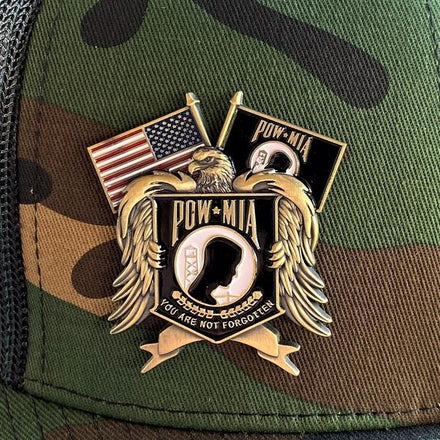 Load image into Gallery viewer, POW*MIA Memorial Pin VIP