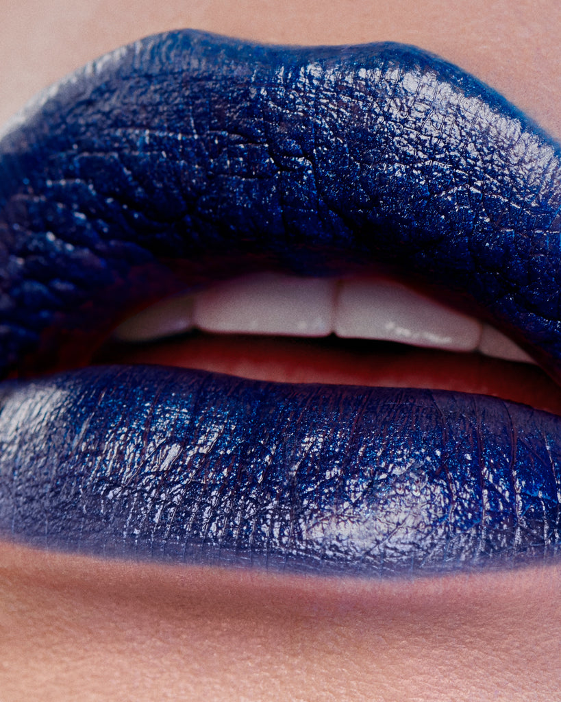 Dirty Couture Deep Sapphire Blue Lipstick by Miss Fame Beauty