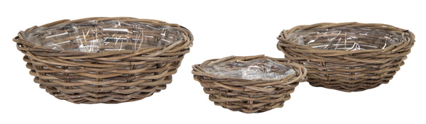 Laura Round Low Basket -F- Natural S3 D27/45H11/15