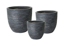 Vermont Egg Pot Graphite S3 D27/42H26/41