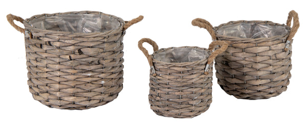 Bobs Bush Basket Pot Grey S3 D16/25H14/20