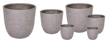 Arizona Egg Pot Taupe Wash S6 D25/62H25/62