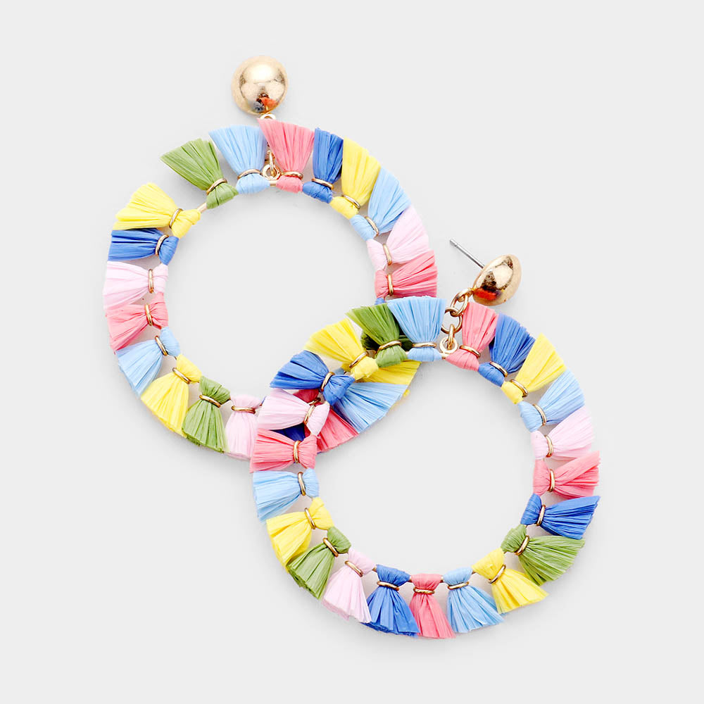 Summer Days Multi Colored Statement Earrings