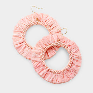 Catherine Pink Lightweight Hoops