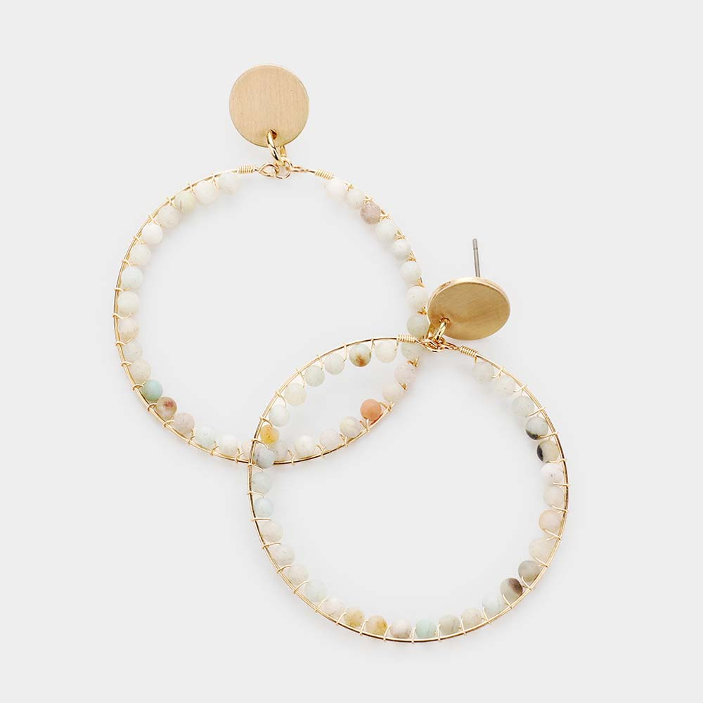 The Marley Summer Sand Golden Hoops