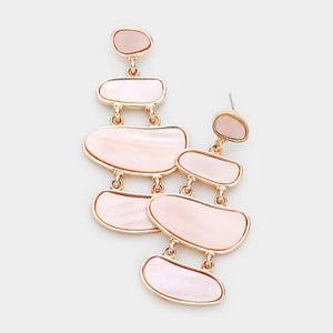 Blush Layered Statement Earrings