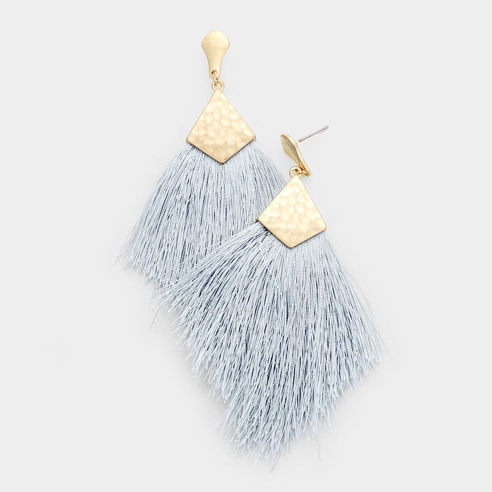 Tinsley Gray Tassel Earrings