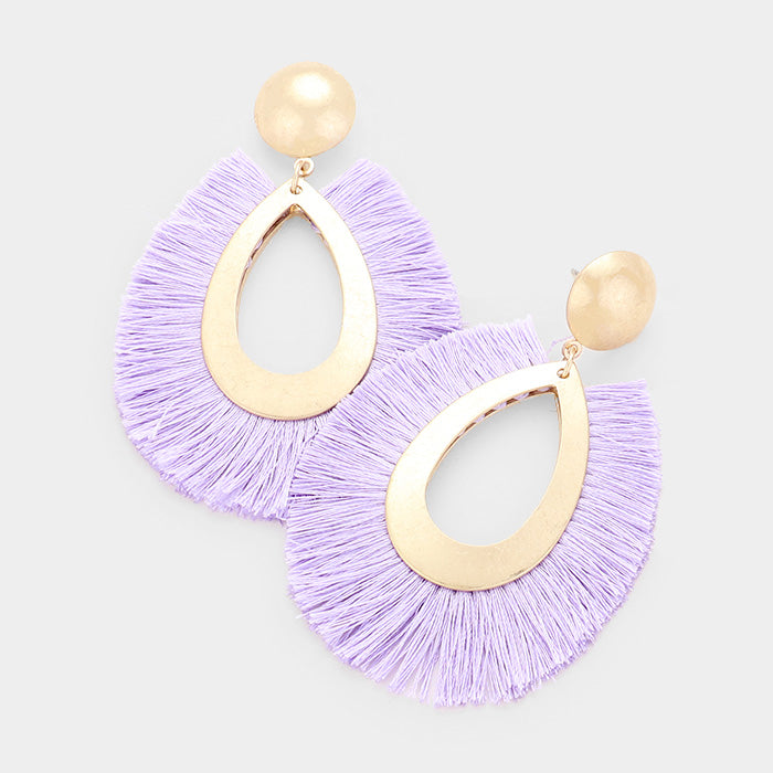 Austin Lilac Fringe Earrings