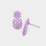 Lilac Pineapple Stud Earrings