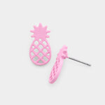Pink Pineapple Stud Earrings