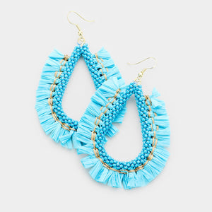 St Bart's Blue Statement Earrings