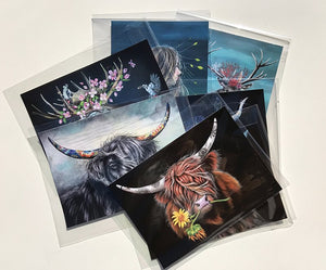 "Your choice of 3 art print  - by berry ""Post Cards"""