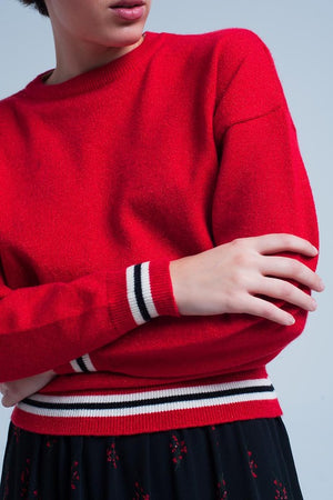 RED LUREX SWEATER