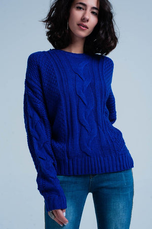 ROYAL BLUE SWEATER