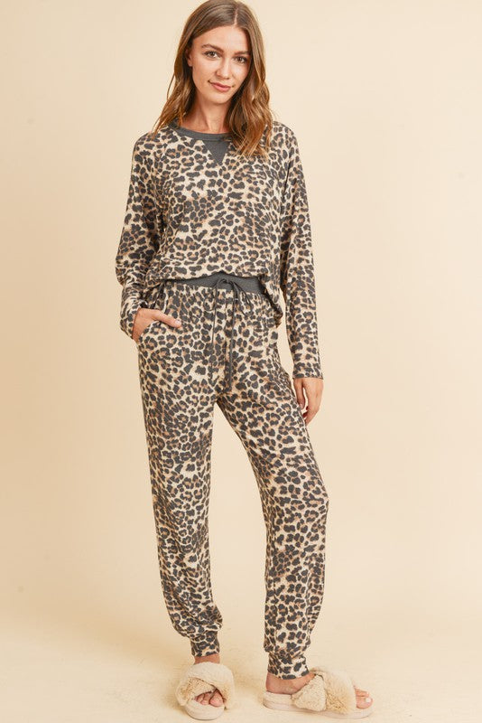 LEOPARD FRENCH TERRY SET