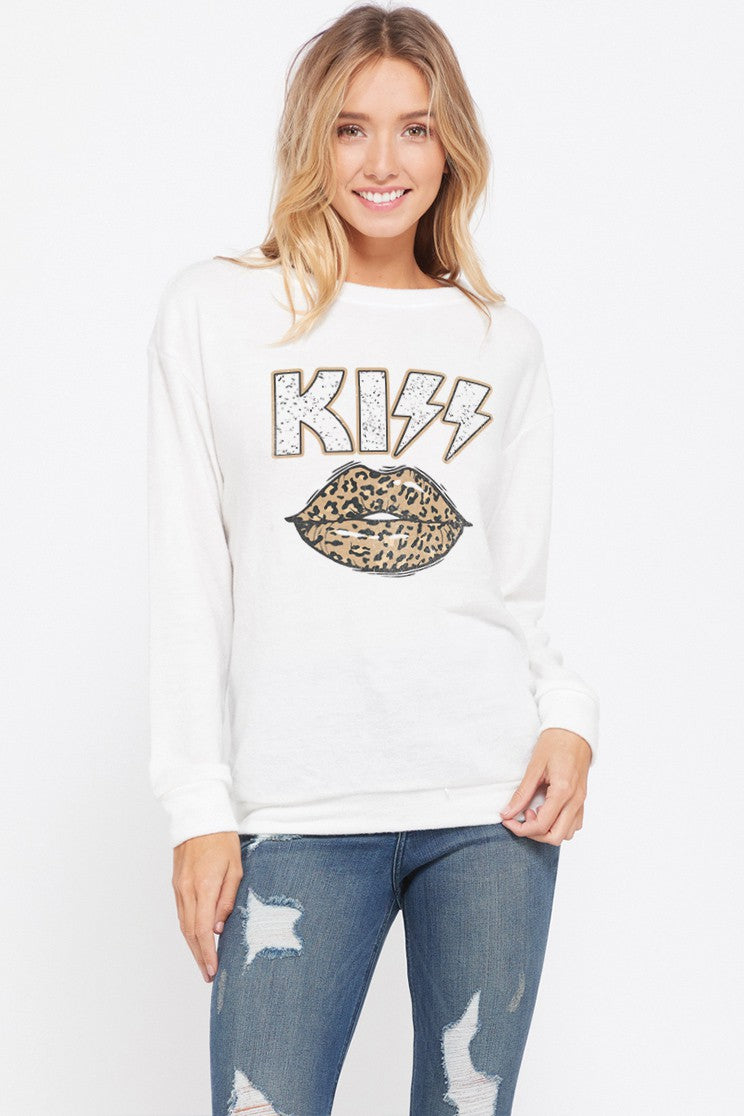 LEOPARD KISS TOP