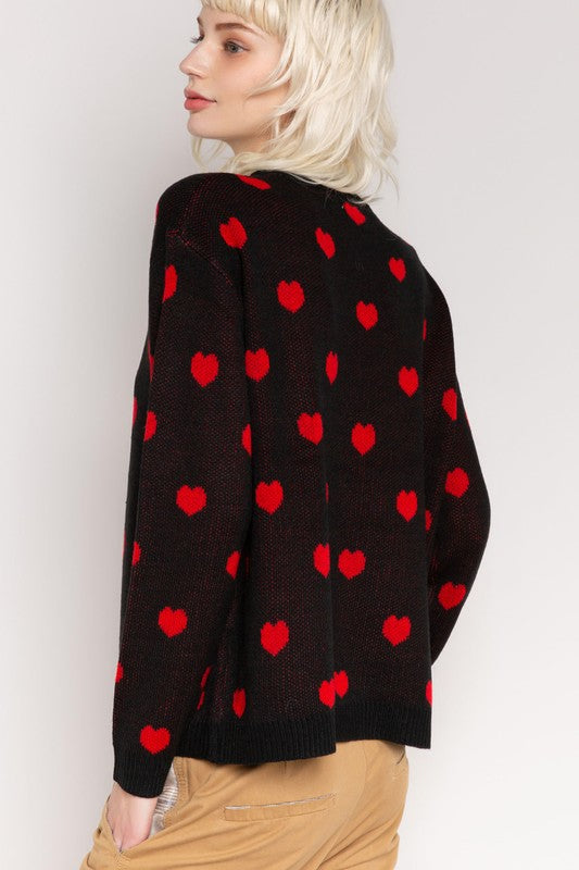 RED HEARTS SWEATER