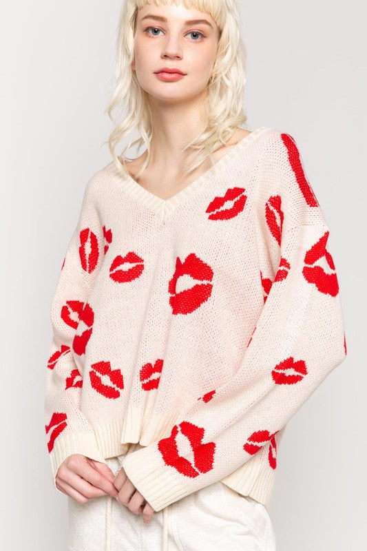 RED LIPS SWEATER