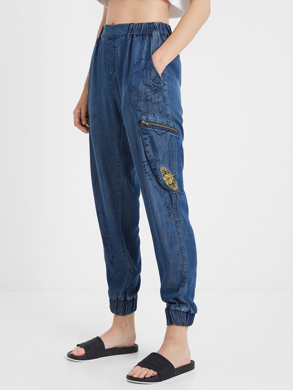 BUTTERFLIES DENIM JOGGER