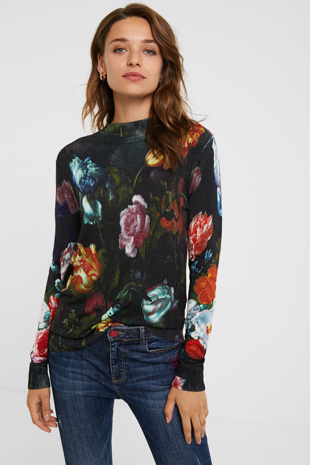 FALL FLORAL SWEATER