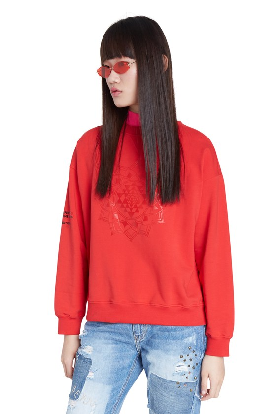 RED OVERSIZE SWEATSHIRT