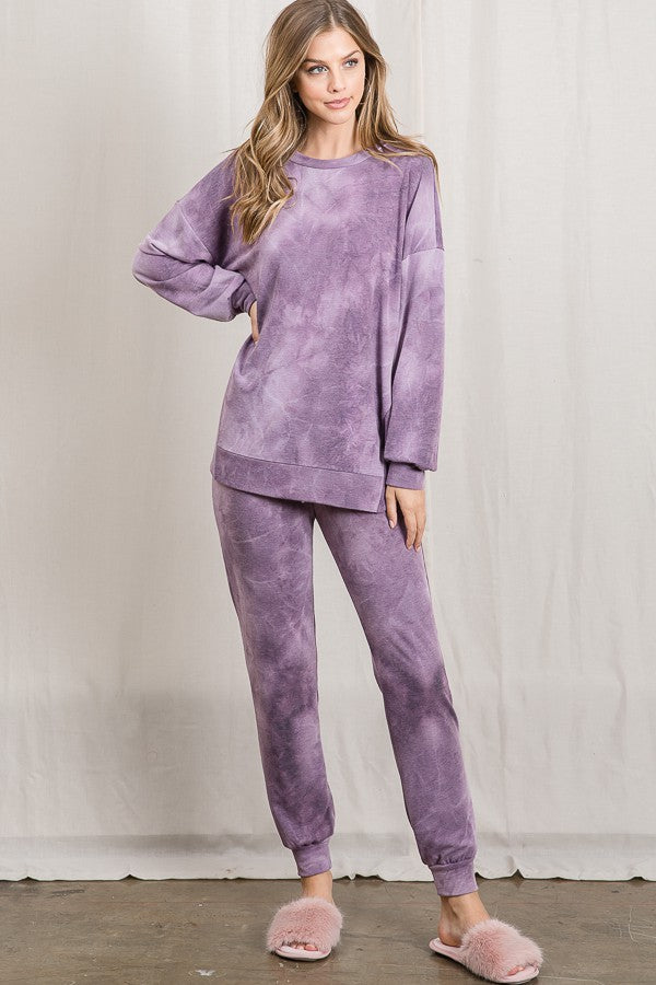 PURPLE TIE-DYE SET