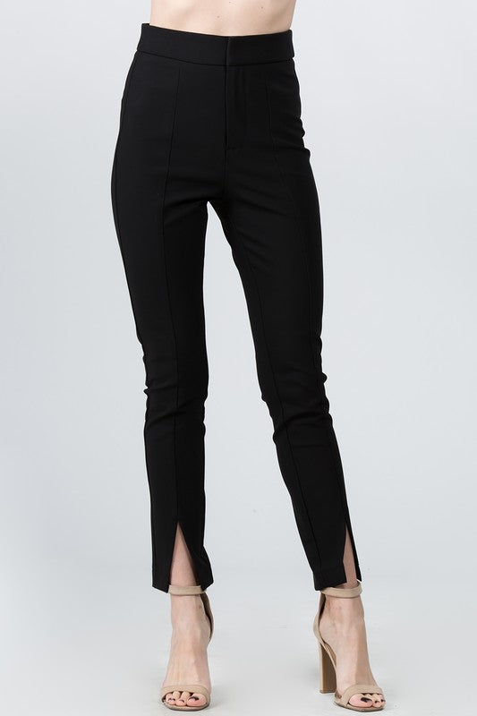 Skinny Pant with Split Hem