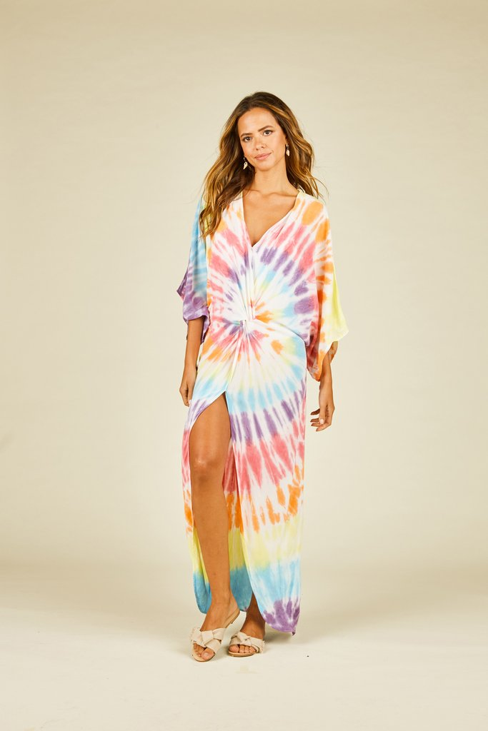 TIE DYE TWIST COVER UP