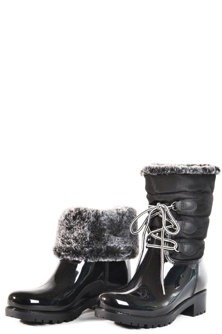 FAUX FUR LINED WINTER BOOTS