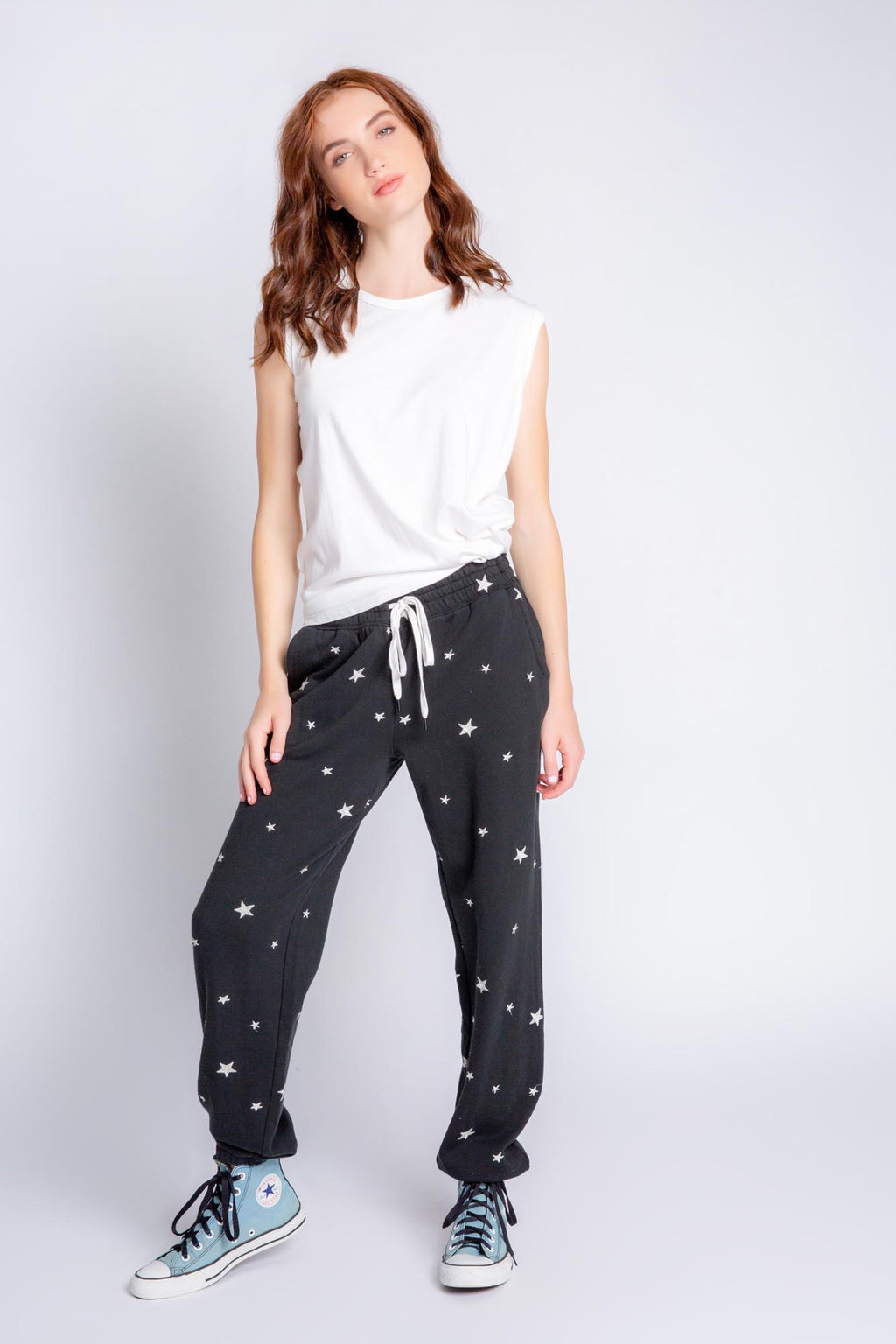 EMBROIDERED STARS JOGGER