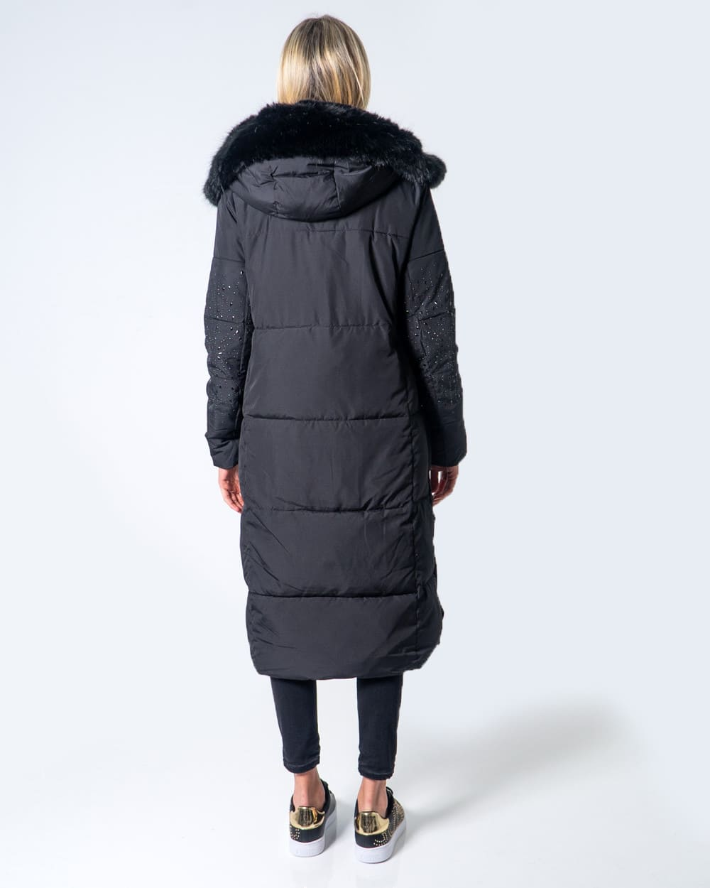BLACK LONG PARKA